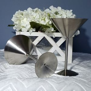 ⭐HOST PICK⭐ Stainless Steel Martini Glasses